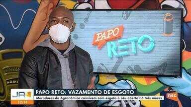 Moradores de Florianópolis reclamam de esgoto na rua há três meses - Moradores de Florianópolis reclamam de esgoto na rua há três meses