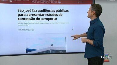 São José faz audiências públicas para apresentar estudos de concessão do aeroporto - Reuniões que acontecem até o dia 20 de agosto apresentam os estudos técnicos e os termos para a concessão.