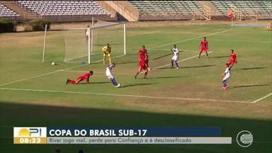 River-PI perde para o Confiança e é desclassificado da Copa do Brasil Sub-17 - River-PI perde para o Confiança e é desclassificado da Copa do Brasil Sub-17