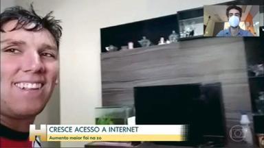 Cresce número de domicílios brasileiros com internet - Índice chega a 83%, segundo pesquisa TIC Domicílios 2020. Maior aumento foi entre as pessoas que moram na zona rural do Brasil.