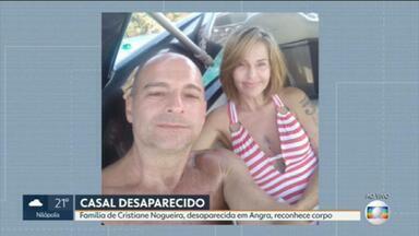 Parentes confirmam que corpo encontrado na Marambaia é da mulher que desapareceu em Angra - Bombeiros encontraram o corpo de uma mulher na Restinga de Marambaia. A família de Cristiane Nogueira, desaparecida em Angra dos Reais, afirma que o corpo é dela.