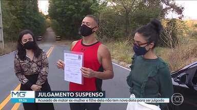 Julgamento de acusado de matar ex-mulher e filho dela é suspenso em BH - Na semana passada, Paulo Henrique da Rocha foi colocado em liberdade por um erro, mas se entregou e voltou pra cadeia.