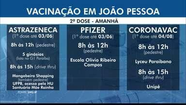 Confira o esquema de vacinação em João Pessoa nesta quinta-feira (1º) - Imunização segue na cidade.