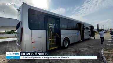 30 novos ônibus passam a integrar frota de Manaus - 30 novos ônibus passam a integrar frota de Manaus