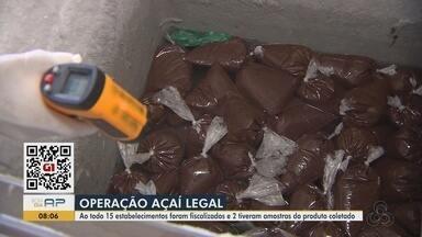 Ação em batedeiras de açaí em Macapá coleta amostras para análise sobre adulteração - Ação do Procon e Vigilância Sanitária atendeu reclamações sobre consistência do suco e condições insalubres para produção.