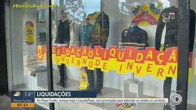 Liquidações movimentam o comércio em Passo Fundo - Mais de 800 lojas participam da promoção que durará 10 dias.