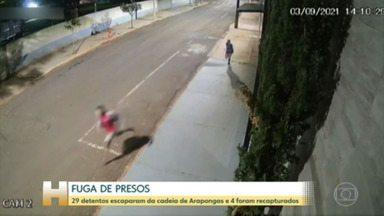 No Paraná, a polícia está à procura de presos que fugiram da cadeia de Arapongas na madrugada - Ao todo, 29 detentos conseguiram fugir.