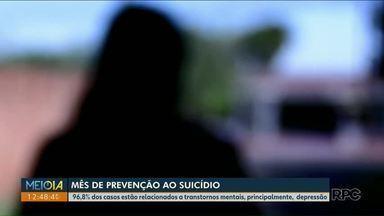 Setembro Amarelo: Mês de prevenção ao suicídio - 96,8% dos casos estão relacionados a transtornos mentais, principalmente, depressão.