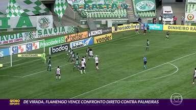 Em confronto direto, Flamengo supera Palmeiras; Flu e Grêmio vencem; Corinthians só empata - Em confronto direto, Flamengo supera Palmeiras; Flu e Grêmio vencem; Corinthians só empata