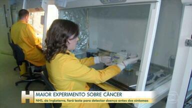 Maior experimento do mundo para detectar mais de 50 tipos de câncer é lançado - O sistema público de saúde da Inglaterra lançou o maior experimento do mundo de um teste capaz de detectar mais de 50 tipos de câncer antes que os sintomas apareçam.