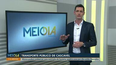 Idosos podem usar transporte coletivo sem restrição de horário, em Cascavel - Quatro usos por dia estão liberados.