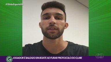 Henrique Lordelo, jogador do Goiás que foi baleado, diz que não participou de briga - Meia esmeraldino já recebeu alta e se recupera no CT do clube