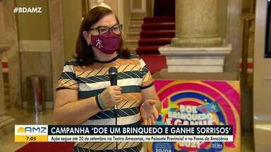 Campanha 'Doe um brinquedo e ganhe sorrisos' arrecada doações em espaços culturais - Ação segue até o dia 20 de setembro no Teatro Amazonas, Palacete Provincial e Centro Cultural Povos da Amazônia.