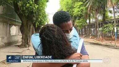 Motorista de aplicativo é solto após ser reconhecido por foto 3x4 feita há 15 anos - Jeferson Pereira ficou 6 dias preso em Benfica.