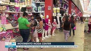 Comerciantes do Moda Center começam a expor nova coleção de olho nos últimos meses do ano - Proximidade da primavera anima comerciantes.