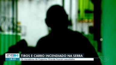 Moradores de Carapina Grande, na Serra, ficam assustados com tiroteio - Assista.