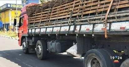 Caminhão é apreendido fazendo transporte irregular de cabras na Fernão Dias - Caminhão vinha da Bahia e seguia rumo a São Paulo.