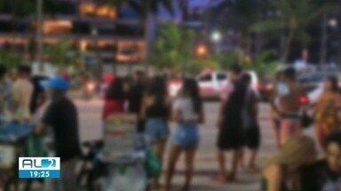 Fiscalização flagra menores consumindo bebida alcoólica na rua fechada - Cinco crianças foram apreendidas durante ação da Vara da Infância e Juventude.