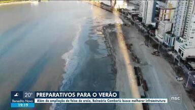 Além do alargamento da praia, Balneário Camboriú prepara estruturas para verão - Além do alargamento da praia, Balneário Camboriú prepara estruturas para verão