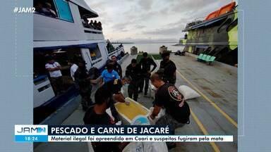 Pescado ilegal e carne de jacaré são apreendidos em Coari - Pescado ilegal e carne de jacaré são apreendidos em Coari
