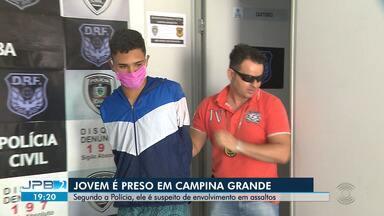 Jovem é preso suspeito de envolvimento em assaltos - Um dos casos foi flagrado por câmeras de segurança.