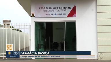 Ituiutaba inaugura farmácia básica para fornecimento de remédios pelo SUS - Prédio estava pronto há 5 anos, mas sem equipamentos. Serviço é oferecido no Bairro Sol Nascente.