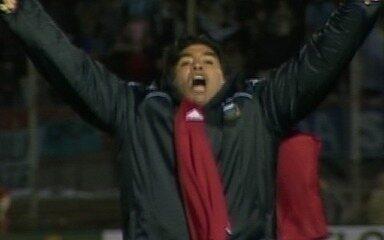 O gol de Uruguai 0 x 1 Argentina pela 18ª rodada das eliminatórias sul-americanas da Copa