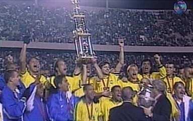 Em 1997, Brasil vence a Bolívia e conquista o título da Copa América