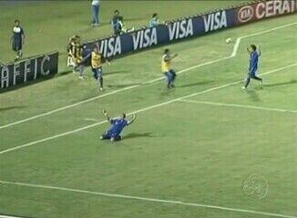 Gols da vitória do Penarol sobre o Santa Cruz, no Recife