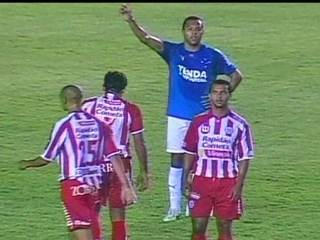 Em 2007, Náutico empata com o Cruzeiro por 2 a 2 pelo Campeonato Brasileiro
