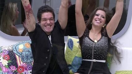 Casal Nasser e Andressa comemora presença na Grande Final do BBB13