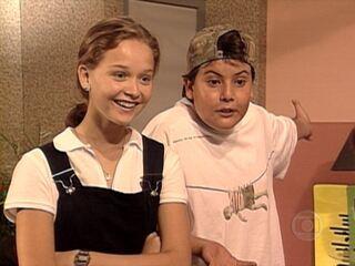 Malhação (1995-1996): Paula conversa com Luiza e Fabinho