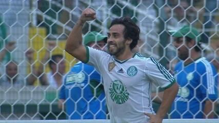 Os gols de Palmeiras 2 x 0 São Paulo pela 5ª rodada do Paulistão 2014