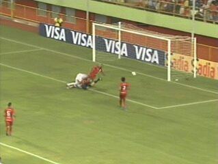 O gol de Rio Branco-AC 1 x 0 Real Noroeste pela Copa do Brasil 2014