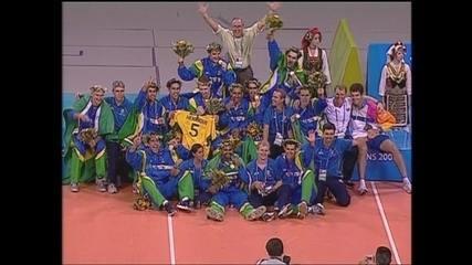 Em 2004, Brasil vence Itália por 3 a 0 e conquista o ouro nos Jogos Olímpicos de Atenas