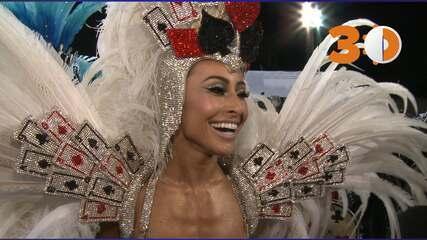 Sabrina Sato diz que sente como se fosse sua estreia na Gaviões da Fiel