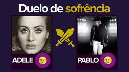 Adele ou Pablo? G1 promove duelo da 'sofrência' com faixa a faixa; VÍDEO