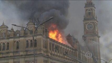 Museu da Língua Portuguesa é destruído por incêndio em São Paulo