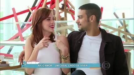 Sophia Abrahão e Sérgio Malheiros abrem o coração para o Vídeo Show
