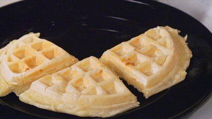 Receita de pão de queijo waffle