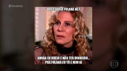 Renata Sorrah se diverte com memes de Nazaré