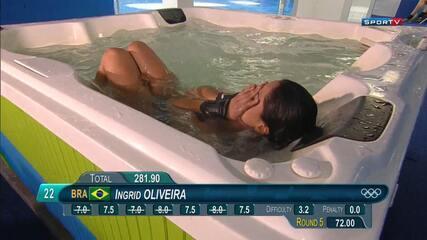 Ingrid de Oliveira fica na 22º posição e não se classifica na plataforma de 10m feminino