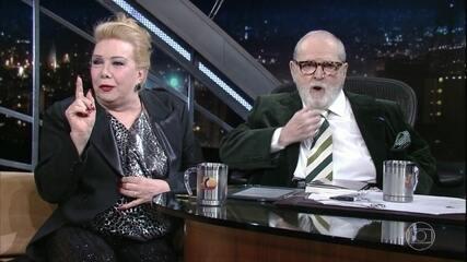 Rogéria bate um papo com Jô Soares sobre o lançamento da sua biografia