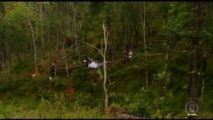 Polícia de SP investiga queda de helicóptero que matou noiva