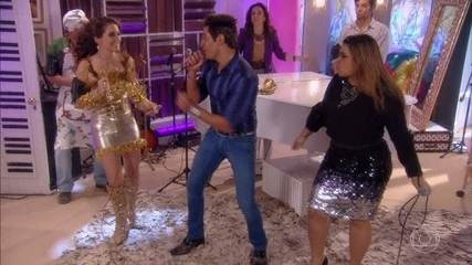 Preta Gil canta com Chayene e Fabian