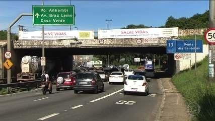 Novo limite de velocidade nas marginais Tietê e Pinheiros vale a partir de meia-noite