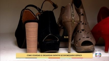 'É de Casa' ensina como guardar e organizar sapatos
