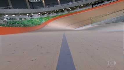 Velódromo tem ar condicionado ligado o tempo todo enquanto a pista fica vazia