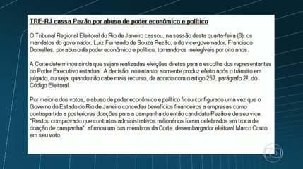 TRE cassa mandato do governador do Rio