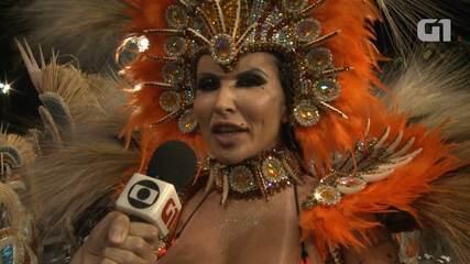 Sabrina Boing Boing representa a mulher real no desfile da Acadêmicos do Tatuapé